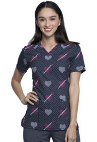 Cherokee V-Neck Top Line Up For Love (CK634-LNOL)
