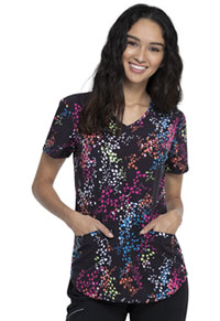 Cherokee V-Neck Top Confetti Set Go (CK637-CNSE)