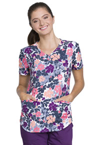 Cherokee Prints V-Neck Top (CK637-FUFY) (CK637-FUFY)