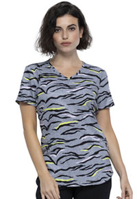 Cherokee V-Neck Top Zebra Pop (CK637-ZBPO)