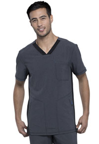 Cherokee Men's V-Neck Top Heather Charcoal (CK639A-HTCH)
