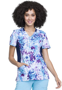 iFlex Mock Wrap Knit Panel Top (CK642-MEST) (CK642-MEST)