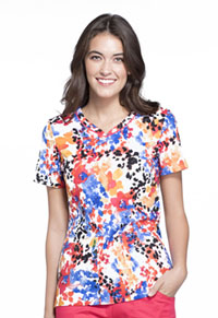 Cherokee V-Neck Top Flower Punch (CK646-FLPU)