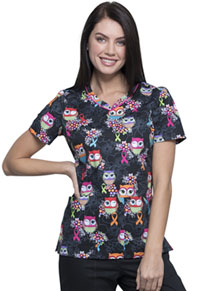 Cherokee V-Neck Top Let's Give A Hoot (CK646-LEGV)