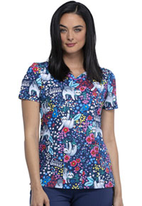 Cherokee Prints V-Neck Top (CK646-NHNW) (CK646-NHNW)