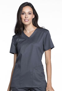 Cherokee V-Neck Top Pewter (CK670-PEWV)
