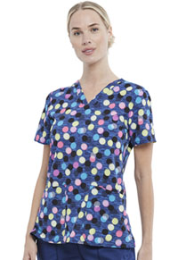 Cherokee Prints V-Neck Top (CK671-GEOJ) (CK671-GEOJ)