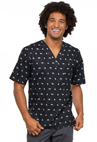 Cherokee Prints Men's V-Neck Top (CK675-DGLF) (CK675-DGLF)