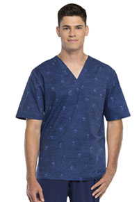 Cherokee Men's V-Neck Top Palm Paradise (CK675-PADS)