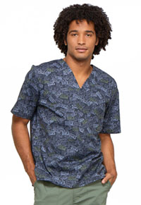 Cherokee Prints Men's V-Neck Top (CK675-SPFN) (CK675-SPFN)