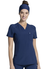 Cherokee Tuckable V-Neck Top Navy (CK687A-NYPS)
