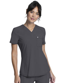 Cherokee Tuckable V-Neck Top Pewter (CK687A-PWPS)