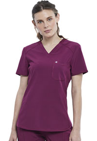 Cherokee Tuckable V-Neck Top Wine (CK687A-WNPS)