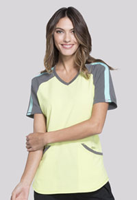 Cherokee Colorblock V-Neck Top Sunny Day (CK690A-SUDA)