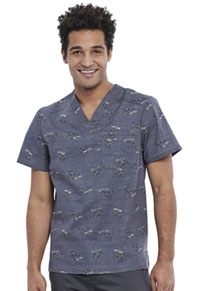 Cherokee Men's V-Neck Top Rawr-some (CK692-RAWS)