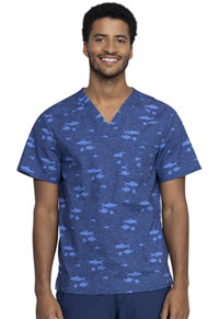 Cherokee Prints Men's V-Neck Top (CK692-STIS) (CK692-STIS)