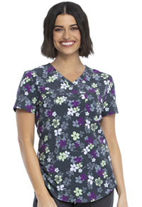 Cherokee Prints V-Neck Top (CK693-LVYL) (CK693-LVYL)