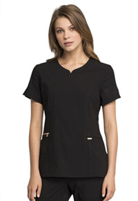 Statement V-Neck Top (CK695-BLK) (CK695-BLK)
