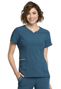 Cherokee V-Neck Top Caribbean Blue (CK695-CAR)