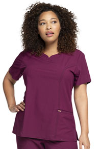 Cherokee Ribbed V-Neck Top Wine (CK695-WIN)
