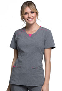 Cherokee Round Neck Top Heather Grey (CK710A-HTGR)
