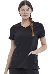 Cherokee V-Neck Top Black (CK711-BLK)