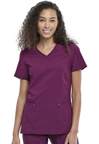 Cherokee V-Neck Top Wine (CK711-WIN)