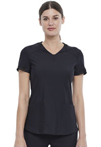 Cherokee V-Neck Top Black (CK723-BLK)