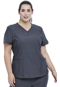 Cherokee V-Neck Top Pewter (CK723-PWT)