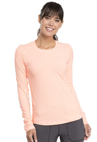 Cherokee Long Sleeve Underscrub Knit Tee Orange Sugar / White (CK765-OSWT)