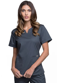 Cherokee Notch V-Neck Top Pewter (CK770-PEWV)