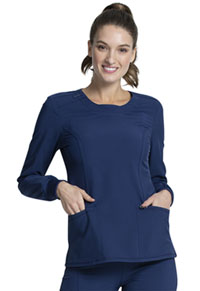 Infinity Long Sleeve V-Neck Top (CK781A-NYPS) (CK781A-NYPS)