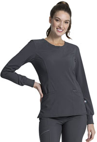 Cherokee Long Sleeve V-Neck Top Pewter (CK781A-PWPS)