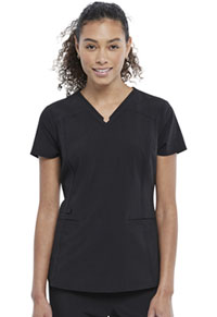 Cherokee V-Neck Top Black (CK798-BLK)