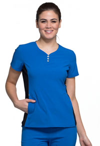 iFlex V-Neck Button Placket Top (CK800-ROY) (CK800-ROY)