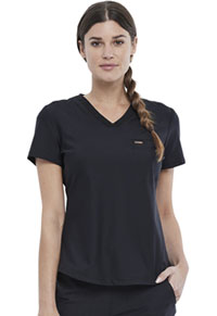 Cherokee Tuckable V-Neck Top Black (CK819-BLK)