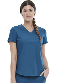 Cherokee Tuckable V-Neck Top Caribbean Blue (CK819-CAR)