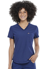 Cherokee Tuckable V-Neck Top Navy (CK819-NAV)