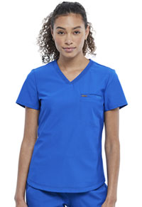 Cherokee Tuckable V-Neck Top Royal (CK819-ROY)