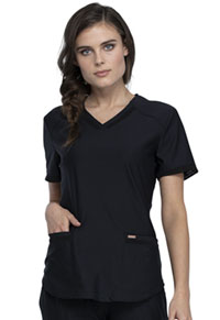 Cherokee Form V-Neck Top (CK840-BLK) (CK840-BLK)
