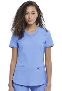 Cherokee V-Neck Top Ciel Blue (CK840-CIE)