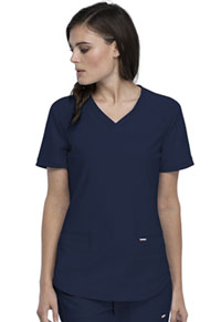 Cherokee Form V-Neck Top (CK840-NAV) (CK840-NAV)