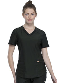 Cherokee V-Neck Top Olive Branch (CK840-OLBA)