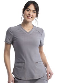 Cherokee V-Neck Top Pebble (CK840-PBBL)