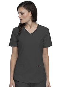 Cherokee Form V-Neck Top (CK840-PWT) (CK840-PWT)