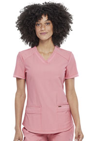 Cherokee V-Neck Top Tea Rose (CK840-TEAS)