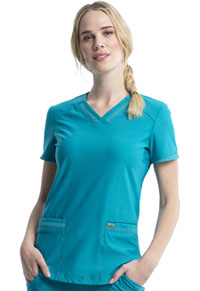 Cherokee V-Neck Top Teal Blue (CK840-TLB)
