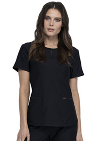 Cherokee Round Neck Top Black (CK841-BLK)