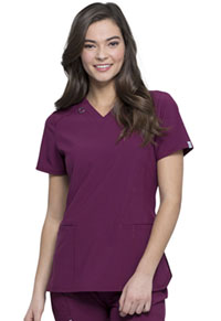 Cherokee V-Neck Top Wine (CK865A-WNPS)