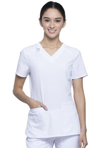 Cherokee V-Neck Top White (CK865A-WTPS)